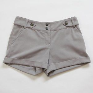 H&M Military Inspired Shorts w Cuffs, Size 6